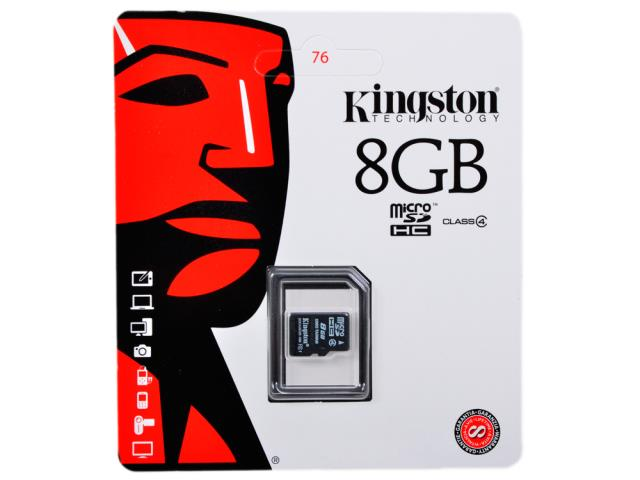 micro SDHC 8GB Kingston (Class 4)